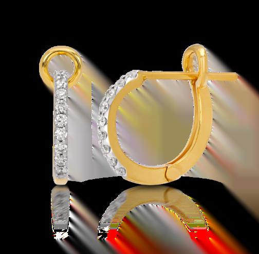 Single Line Hoop Earring