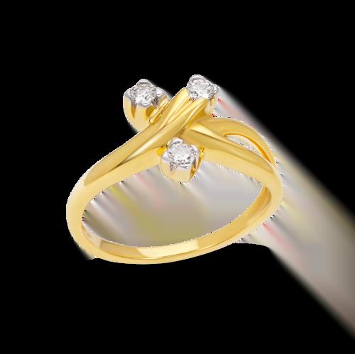 Three Split Diamonds Ring