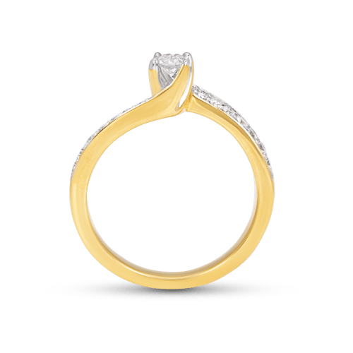 Curvy Solitaire Ring