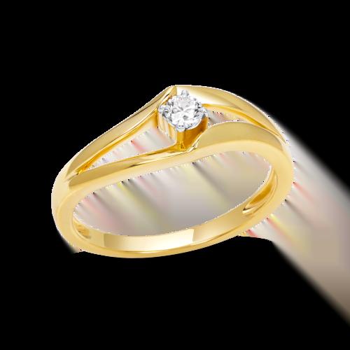 Split Shank Solitaire Ring