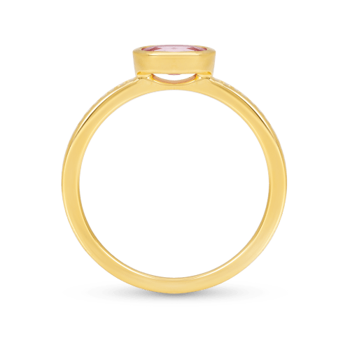 Oval Shaped Ruby Ring