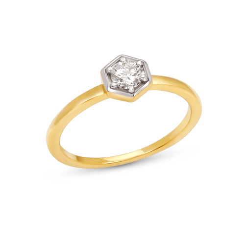 Hexagon Bezel Ring