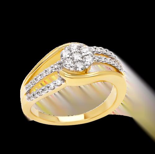 Illusion Round Wedding Ring