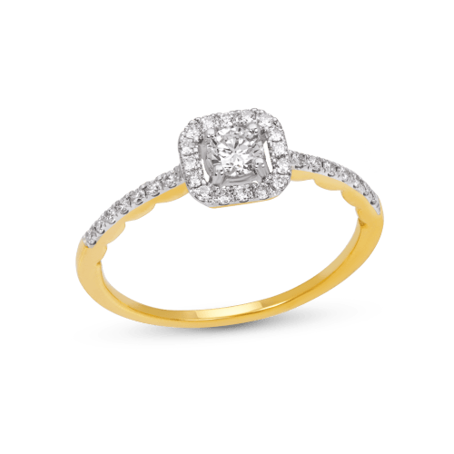 Square Halo Promise Ring