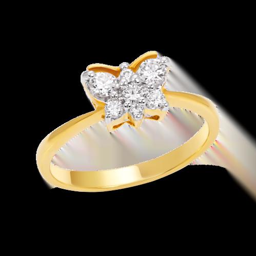 Glittering Butterfly Ring