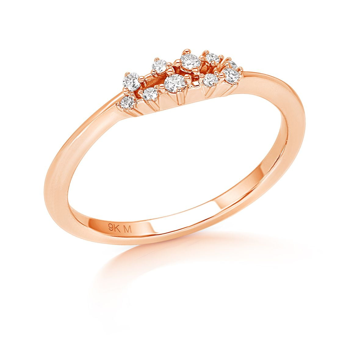 Floating Diamond Stackable Ring